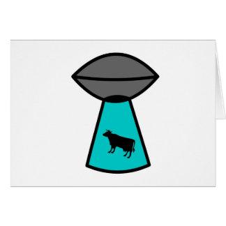 気紛れな牛UFO カード