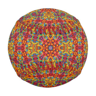 気紛れなTikiのヴィンテージの万華鏡のように千変万化するパターンの   野球 野球ボール