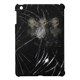 気色悪いエイリアンしかし壊されたガラス iPad MINI カバー