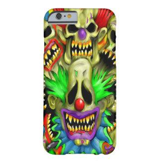 気色悪いカーニバルのスカルのピエロのiPhone6ケース Barely There iPhone 6 ケース