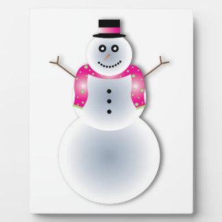 気色悪いクリスマスの雪だるま フォトプラーク