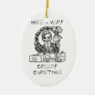 気色悪いクリスマスを持って下さい! セラミックオーナメント