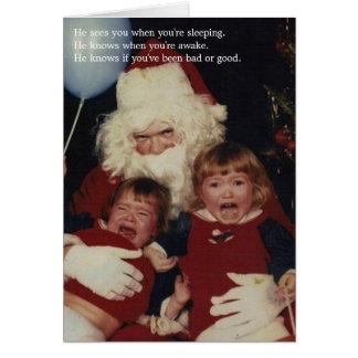 気色悪いサンタのクリスマスカード カード