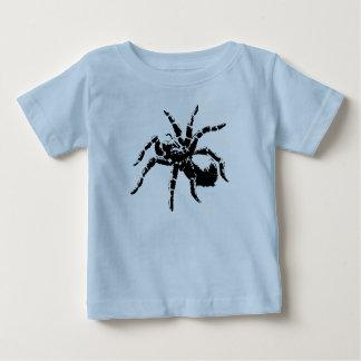 気色悪いタランチュラのデザイン ベビーTシャツ
