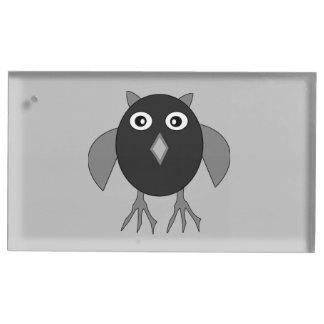 気色悪いハロウィンのフクロウのテーブルカードホルダー テーブルカードホルダー