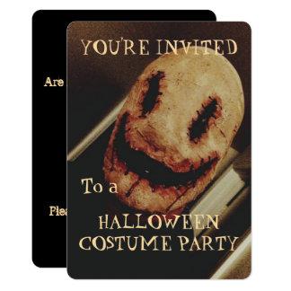 気色悪い人のハローウィンパーティの招待状 カード