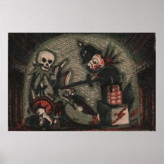 気色悪い人形: 邪悪なびっくり箱の骨組いじめっ子 ポスター