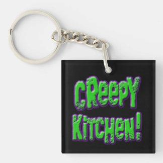 気色悪い台所正方形Whiskwolf Keychain キーホルダー
