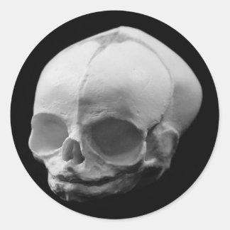 気色悪い幼児スカルのゴシックのステッカー ラウンドシール