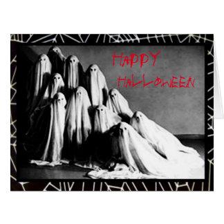 気色悪い幽霊のハロウィンの恐怖カード カード