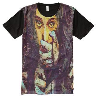 気色悪い恐怖鬼の女の子の暗いファンタジーの芸術 オールオーバープリントシャツ