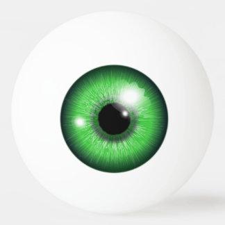 気色悪い緑の眼球のアイリスおもしろいな卓球の球 卓球ボール