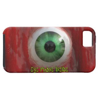 気色悪い緑の瞳及び赤くオーガニックなBGのおもしろいのiPhoneの箱 iPhone 5 Cover