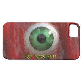 気色悪い緑の瞳及び赤くオーガニックなBGのおもしろいのiPhoneの箱 iPhone SE/5/5s ケース