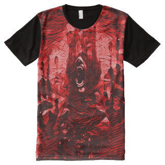 気色悪い血の鬼の死の暗い恐怖芸術 オールオーバープリントT シャツ