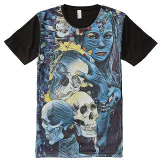 気色悪いKaliの死の女神の暗い恐怖芸術 オールオーバープリントT シャツ