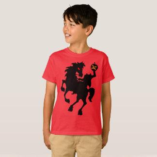 気色悪く幽霊のよく出るな頭のない騎手のシルエット Tシャツ
