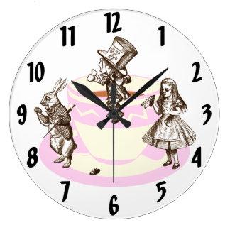 気違いのお茶会のオリジナルの柱時計 ラージ壁時計