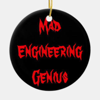 気違いのエンジニアリングの天才オタク系のなギークのおたくのギフト セラミックオーナメント