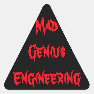 気違いのエンジニアリングの天才オタク系のなギークのおたくのギフト 三角形シール