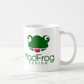 気違いのカエルのデザイン コーヒーマグカップ