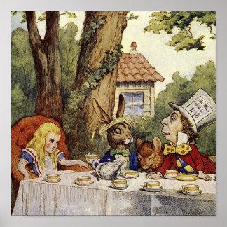 気違いの茶パーティーのキャンバスの芸術 ポスター