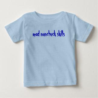 気違いのnunchuckの技術 ベビーTシャツ