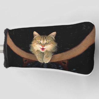 気違い猫の絵画-かわいい元の猫の芸術 ゴルフヘッドカバー