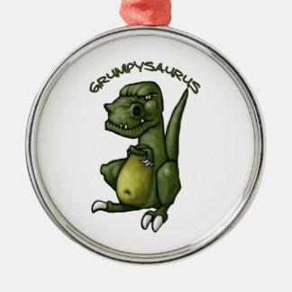 気難しいがあっているGrumpysaurusの恐竜! メタルオーナメント