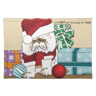 気難しいクリスマス猫 ランチョンマット