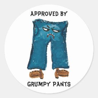 気難しいズボンのステッカーによって承認される ラウンドシール