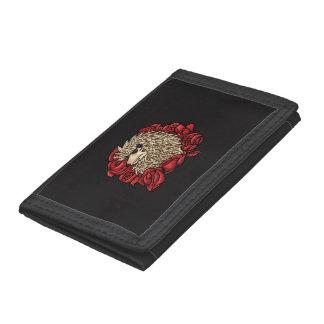 気難しいハリネズミのナイロン財布