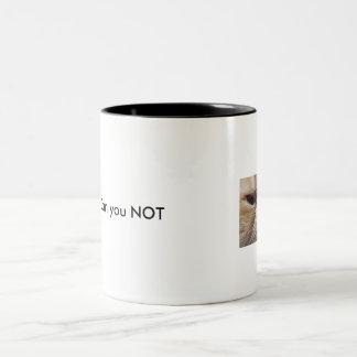 気難しい人々のための気難しい猫のマグ ツートーンマグカップ