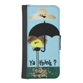 気難しい人を雨が降ることを行くApple 5/5s iPhoneSE/5/5sウォレットケース