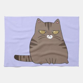 気難しい子猫 キッチンタオル