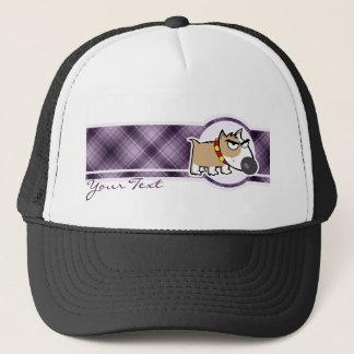 気難しい犬; 紫色 キャップ