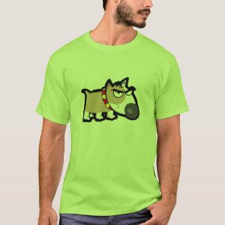 気難しい犬; 緑 Tシャツ
