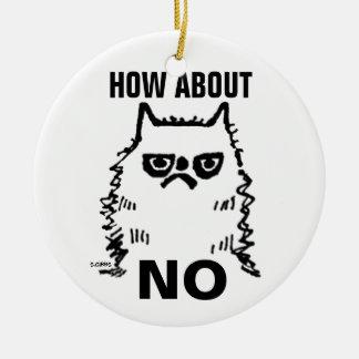 気難しい猫のおもしろいなクリスマスのオーナメント、いかにについて セラミックオーナメント