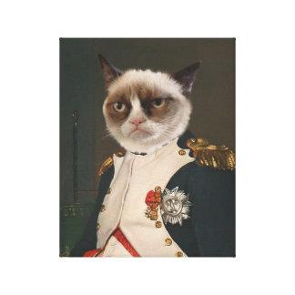気難しい猫のクラシックな絵画 キャンバスプリント