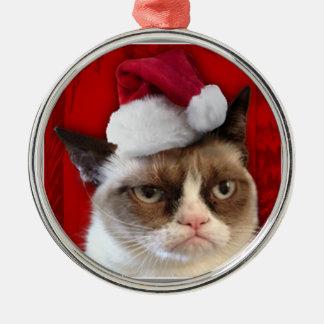 気難しい猫のクリスマスのオーナメント メタルオーナメント