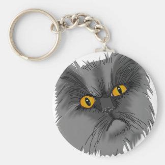 気難しい猫のベクトル キーホルダー