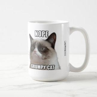 """気難しい猫のマグ- NOPE。 気難しいCAT """" コーヒーマグカップ"""