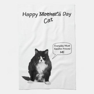 気難しい猫の母の日の台所タオル キッチンタオル