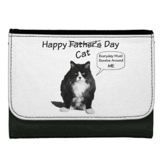 気難しい猫の父の日の革財布