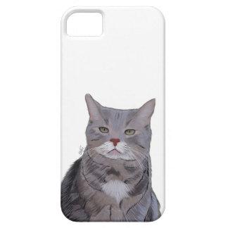 気難しい猫の電話箱、猫の絵 iPhone SE/5/5s ケース