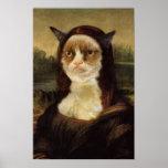 気難しい猫モナ・リザ ポスター