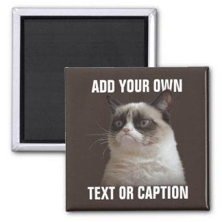 気難しい猫-あなた自身の文字を加えて下さい マグネット