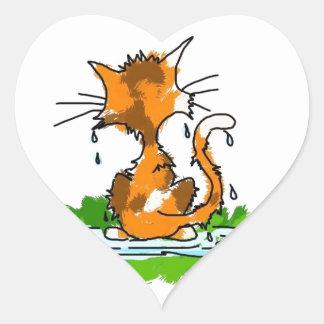 気難しい猫 ハートシール