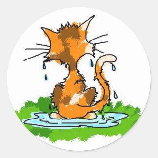 気難しい猫 ラウンドシール