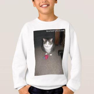 気難しい脂肪質猫は楽しみません スウェットシャツ